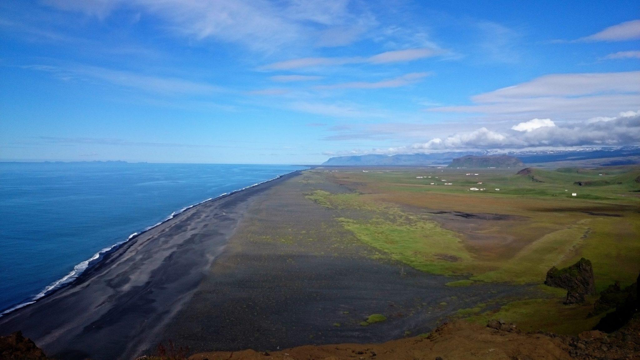 Cañón Fjaðrárgljúfur, Playa de Vik & Península Dyrhólaey en Islandia, l