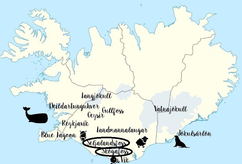 Cascadas Skogafoss & Seljalandfoss en Islandia