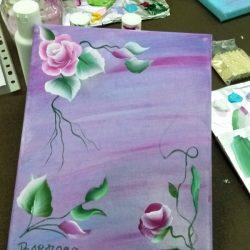 """Pintar flores con la técnica """"one stroke"""""""
