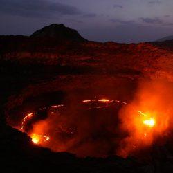El volcán Erta Ale en el Danakil