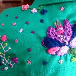 Puntadas bordado para flores (2º parte)