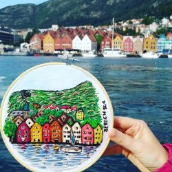 Mis bordados en Escandinavia