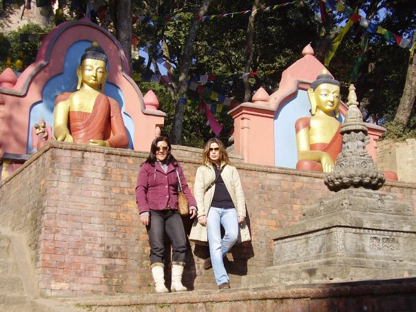 La estupa budista Swayanbunath en Katmandú