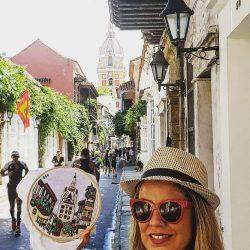 Cartagena de Indias bordada a mano