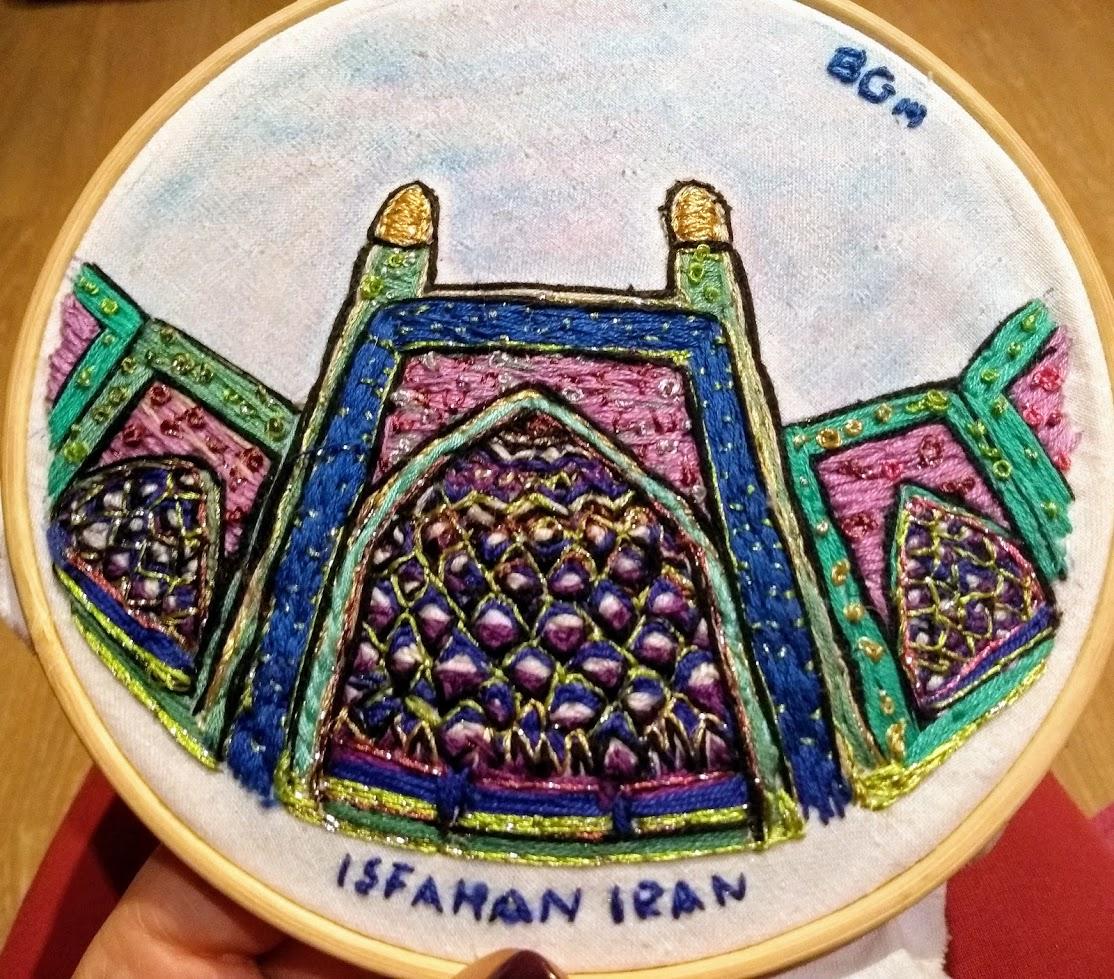 Mis Bordados en Irán.