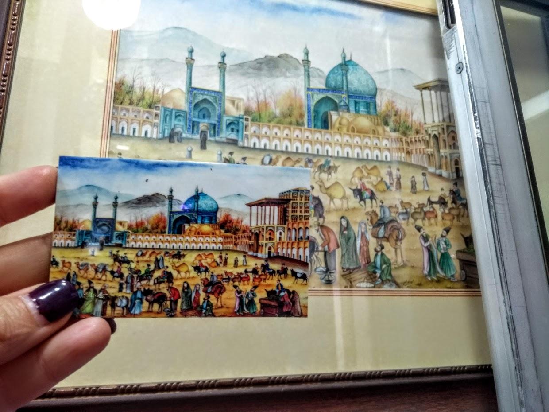 La mitad del mundo está en Isfahan, Irán
