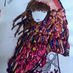 Bordando ilustraciones de Lady Desidia