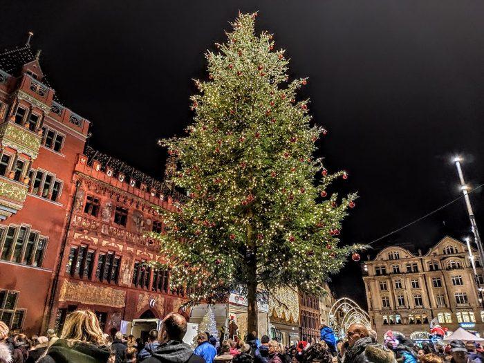Un día en Basilea, Suiza, por Navidad
